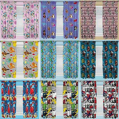 Official Licensed Character Pleated Curtains 54  Or 72  Drop Disney Boys Girls • 14.95£