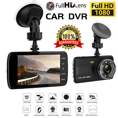 AU49.95 • Buy 2 Channel Dash Cam 1080P 4  HD Car Dual Camera Front And Rear Vehicle Recorder