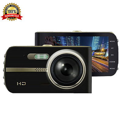 AU49.95 • Buy Front And Rear Dash Cam 1080P 4  Car Dual Camera Vehicle Recorder 2 Channel NEW