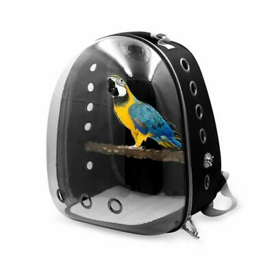 £50.48 • Buy Pet Parrot Backpack Small Carrying Cage Outdoor Travel Breathable Carrier Bag