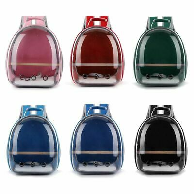 £53.85 • Buy Pet Parrot Travel Backpack Bird Carrier Bag Outdoor Transparent Breathable Cage