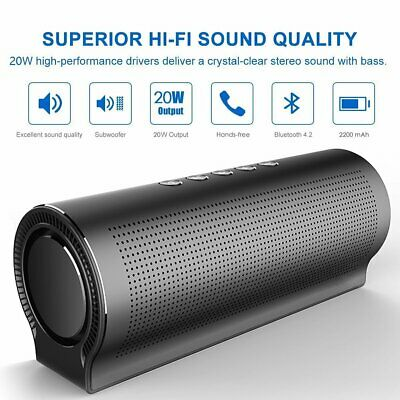 £27.95 • Buy 20W Alloy Portable Wireless Bluetooth Speaker Stereo Outdoor BASS USB/TF/AUX MP3