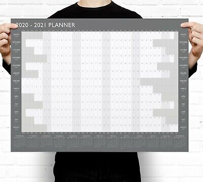 Large A2 2020-2021 Academic Wall Planner Calendar ~ Mid Year • 3.49£
