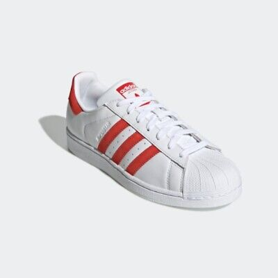 $ CDN89.01 • Buy New Adidas Originals Superstar Shoes Sneakers (EF9237) - White/ Red