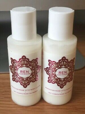 £6.99 • Buy REN CLEAN SKINCARE Moroccan Rose Otto Body Lotion 2x50ml -Travel Size Brand New