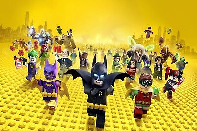 £169.99 • Buy Lego Batman The Movie Robin The Joker Large Canvas Picture Wall Art