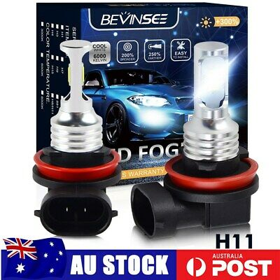 AU26.67 • Buy Bevinsee H11 H8 LED Front Fog Bulb Globe 100W Motorcycle Headlight 6500K 3000LM