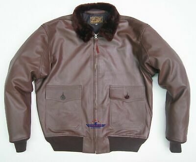 $260 • Buy Vintage WW2 REAL Goat Repro M422 Naval Pilot G1 Leather Jacket USN Military