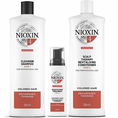 AU59.95 • Buy Nioxin System 4 For Progressed Thinning Coloured Hair  Mutliple Variations