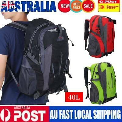 AU23.99 • Buy 40L Waterproof Climbing Backpack Rucksack Outdoor Sports Bag Travel Backpack Hot