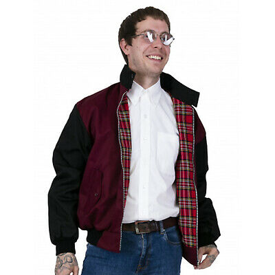 Relco Men's Harrington Burgundy & Black 50's Vintage Look Rockabilly Jacket   • 36.99£