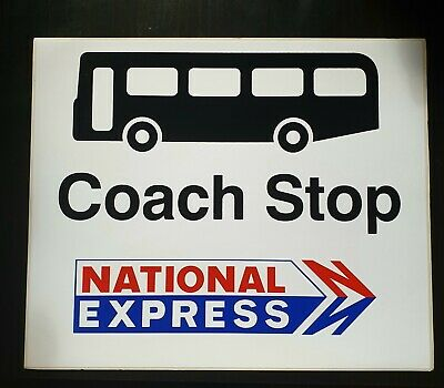 National Express 1970s Bus & Coach Stop Flag Sticker. (Unused) • 8.95£