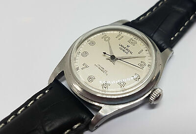 Rare Vintage Universal Silver Dial Manual Wind Mid Size Watch • 375£