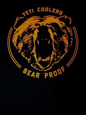 Yeti Coolers Growling Bear Proof - Navy Blue Small T-shirt -a1348 • 11.10£