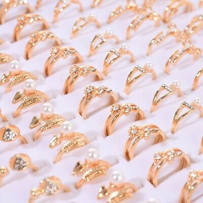 AU1 • Buy Fashion Mix Gold & Silver Stainless Steel Rings Wholesale Bulk Lot Rings Jewelry