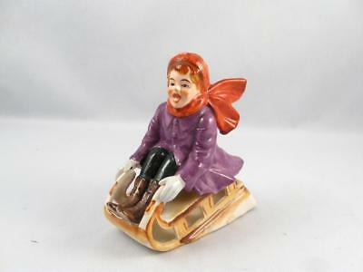$ CDN49.99 • Buy Vintage/antique Girl On Snow Sled Hand Painted Porcelain Figurine