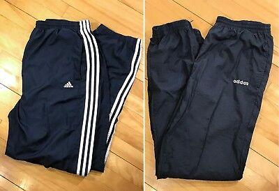 $ CDN64.95 • Buy Set Of 2: Vintage 90s ADIDAS Track Pants Streetwear 3-Stripe Sz Med Blue VTG