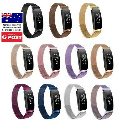AU13.95 • Buy For Fitbit Inspire/Inspire HR Milanese Magnetic Stainless Steel Wrist Band Strap