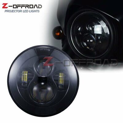 AU26.28 • Buy 7 Inch Replacement Projector LED Headlight Assembly Motorcycle Lamp Black Round
