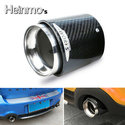 AU128.25 • Buy For Mini Cooper F54 F55 F56 Carbon Fiber Steel Exhaust Pipe Tail Muffler Tip JCW