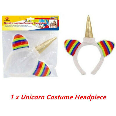 AU14.95 • Buy Unicorn Costume Headband Horn Headpiece Decoration Party Fancy Hair Cosplay