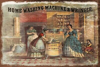 Vintage Advert Washing Machine Retro Style Metal Plaque Sign, Laundry • 6.99£
