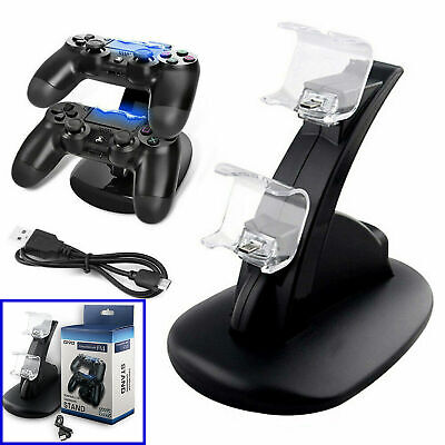 AU16.13 • Buy For PlayStation PS4 Dual Controller LED Charger Dock Station USB Charging Stand
