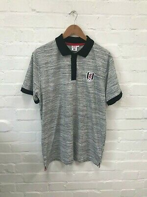 £16.99 • Buy Fulham FC Official Men's Football Polo Shirt - Large - Grey - New