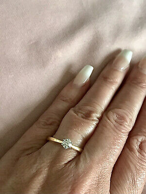 £449 • Buy 18ct Gold Diamond Solitaire Engagement Ring 0.33ct SALE Was £720 Last One!