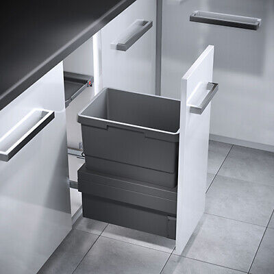Hailo Kitchen Cabinet Cargo Synchro Pull Out Waste Bins / Soft Close System • 279£