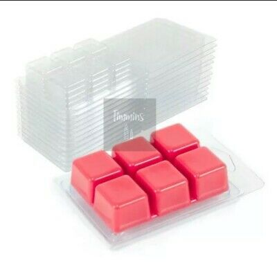 TIMMINS CANDLES - 30 Clamshell Mould Wax Melts - From Recycled Plastic 22mm Deep • 15£