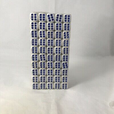 AU18.40 • Buy New 14mm Six Sided Spot Dice. 100 Pack