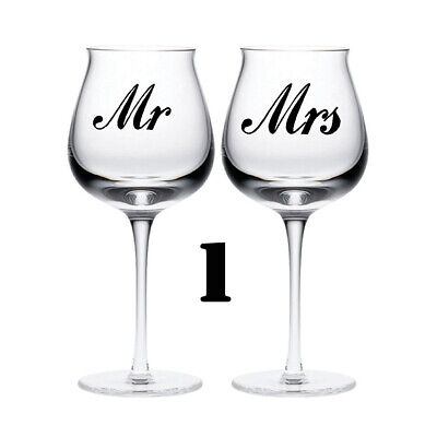 £2.49 • Buy MR & MRS Wedding Sticker Glass Love. Quality Vinyl Decal Quotes