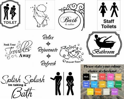 Wall Art Stickers For Bathroom Toilet Home Decor, Quality Vinyl Decal Quotes • 4.99£