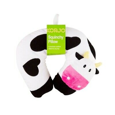 AU15.95 • Buy NEW Korjo Kids Squinchy Travel Neck Pillow - Cow - Ideal For Travel On Planes