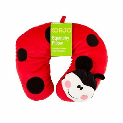 AU15.95 • Buy NEW Korjo Kids Squinchy Travel Neck Pillow Lady Bug - Ideal For Travel On Planes