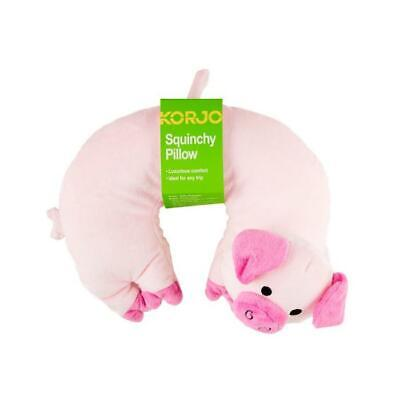 AU15.95 • Buy NEW Korjo Kids Squinchy Travel Neck Pillow Pig - Ideal For Travel On Planes