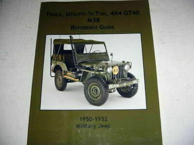 $65 • Buy Vintage Willys M38 Military Jeep G740 M38 Reference Guide New
