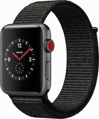 $ CDN326.66 • Buy Apple Watch Series 3 42mm Space Gray Aluminum Case Black Sport Loop (GPS +...