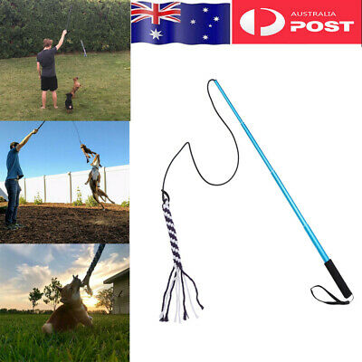 AU22.29 • Buy Dog Flirt Pole Extendable Teaser Wand Tug Toy Rope Outdoor Play Fun Interactive