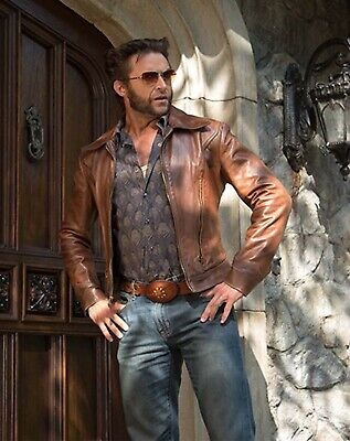 X Men Wolverine Days Of Future Past Tan Brown Real Leather Jackets • 110.74£