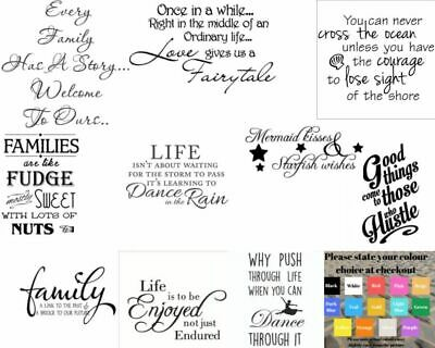 Wall Art Stickers Quotes Removeable Home Decor, Quality Vinyl Decal Quotes • 4.99£