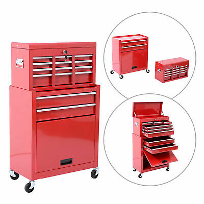 View Details Portable Removable Top Chest Rolling Tool Storage Box Cabinet Sliding Drawers • 39.99$