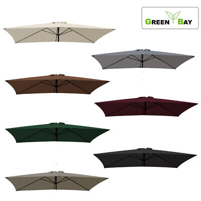 Replacement Fabric Garden Parasol Canopy Cover For 3x2m 6 Arm Patio Sun Umbrella • 28.99£