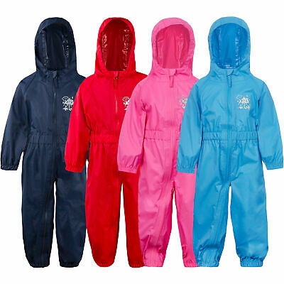 £14.99 • Buy Baby Boys Girls Unisex Rain Puddle Suit All In One Lightweight Waterproof Hooded
