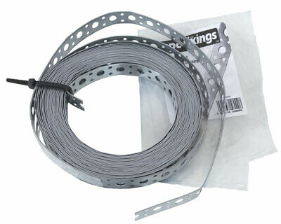 £8.49 • Buy BPC 0.9mm Thick Galvanised Multi Purpose Flexible Fixing Band 20mm Wide 10m Roll
