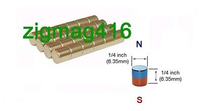 $ CDN7 • Buy D1/4  X 1/4  Thick, N52, Rare Earth, Neodymium, Cylinder Magnets - Pack Of 20