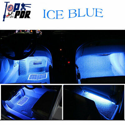 $7.12 • Buy 4pc Car SUV Charger Light Car Accessories Lamp Lighter Floor Decorative Ice Blue