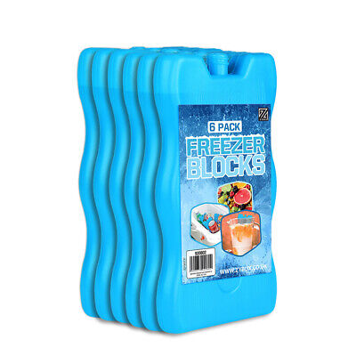 6 X Reusable FREEZER Cool BLOCKS Ice Pack Cooler Bag For Picnic Travel Lunch Box • 8.95£