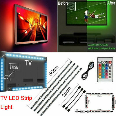 $7.95 • Buy 5V RGB LED Bias Lighting For TV LCD HDTV Monitors USB LED Strip Background Light
